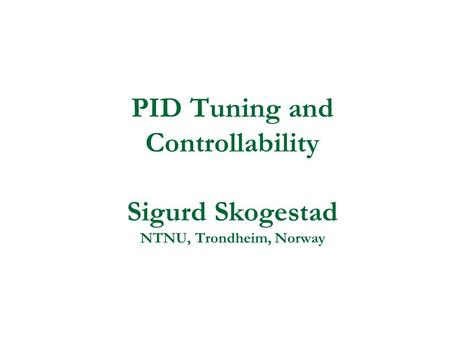 Pid download pi of rules and tuning handbook controller