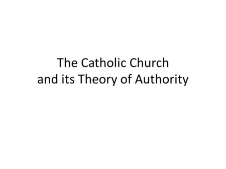 The Catholic Church and its Theory of Authority. The Papal Insignia.