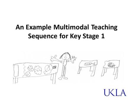 An Example Multimodal Teaching Sequence for Key Stage 1.