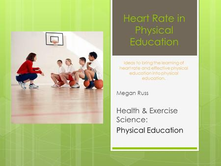 Heart Rate in Physical Education