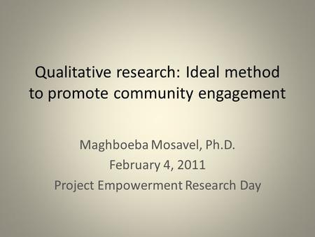 The basics behind qualitative research