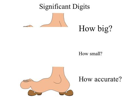 How big? Significant Digits How small? How accurate?