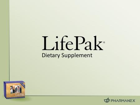 Dietary Supplement. What is LifePak ® ? A comprehensive nutritional wellness program delivering the optimal amounts of essential and generally beneficial.