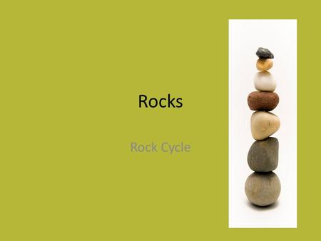 Rocks Rock Cycle. Learning Outcome Identify how each rock type can be changed into another Understand the steps on the diagram Draw the labelled diagram.
