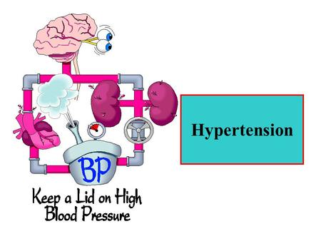 Hypertension. Some causes of hypertension Renal artery stenosis Chronic renal disease Primary hyperaldosteronism (in aldosteron secretion due to a tumor.