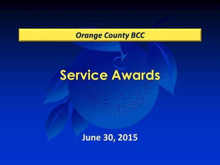 Service Awards Orange County BCC June 30, 2015. Community, Environmental & Development Services Building Safety.
