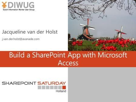 Build a SharePoint App with Microsoft Access. About me.