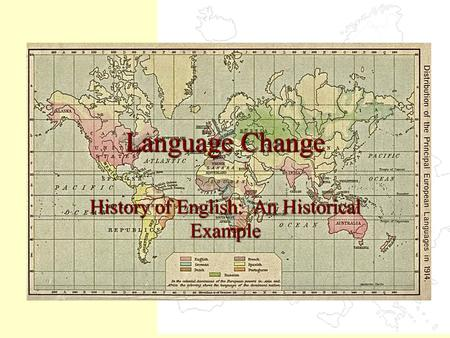 History of English: An Historical Example