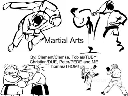 Martial Arts By: Clement/Clemse, Tobias/TUBY, Christian/DUE, Peter/PEDE and ME Thomas/THOM!