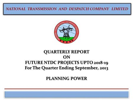 FUTURE NTDC PROJECTS UPTO