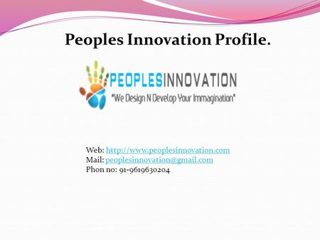 Peoples Innovation Profile. Web:  Mail: