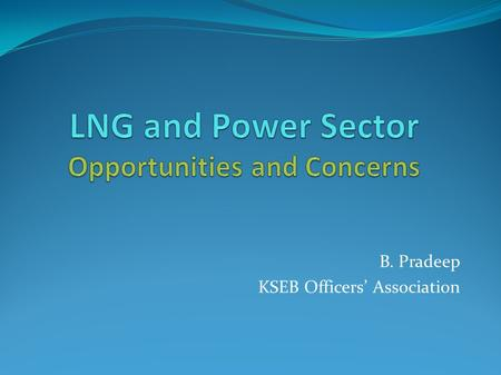 LNG and Power Sector Opportunities and Concerns