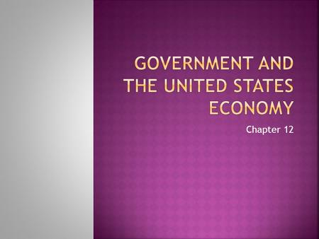 Government and the United states economy