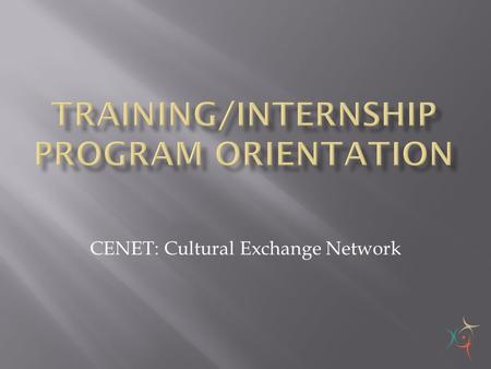 Training/Internship program orientation