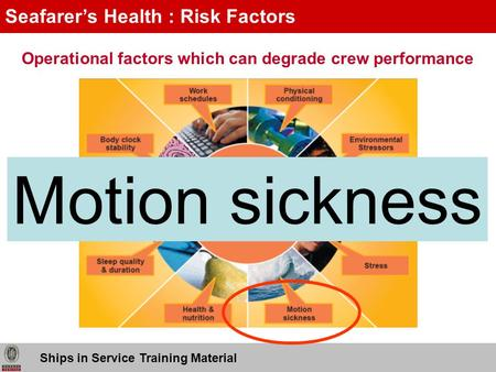 Motion sickness Seafarer's Health : Risk Factors