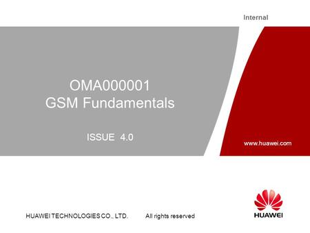 OMA000001 GSM Fundamentals ISSUE 4.0.