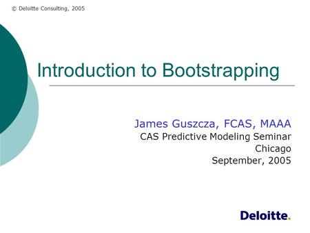 Introduction to Bootstrapping