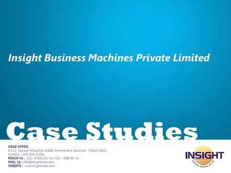 Insight Business Machines Private Limited