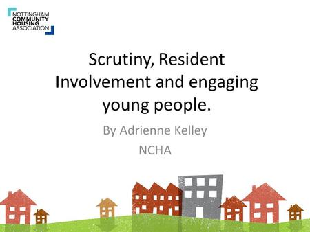 Scrutiny, Resident Involvement and engaging young people.