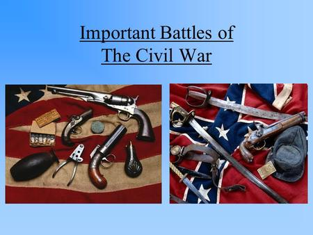 Important Battles of The Civil War. Fort Sumter (1861) A Confederate victory! Considered the 1 st battle of the Civil War Confederates attack a Federal.