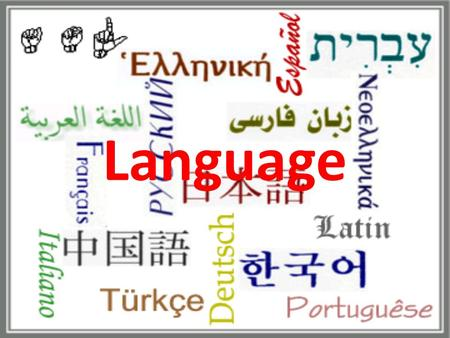 Language. Key Issue 1: Where Are English- Language Speakers Distributed? English is spoken fluently by a total of one half billion people This is more.