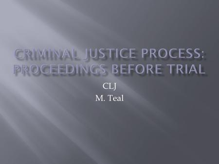 CLJ M. Teal.  Arraignment  Personal recognizance  Preliminary hearing  Indictment  Nolo Contendere  Judicial integrity  Deterrence.