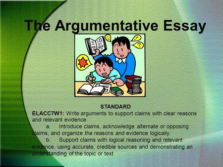What Are Good Topics For An Argumentative Essay