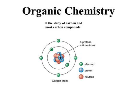 Organic Chemistry = the study of carbon and most carbon compounds.