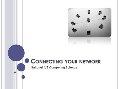 C ONNECTING YOUR NETWORK National 4/5 Computing Science.