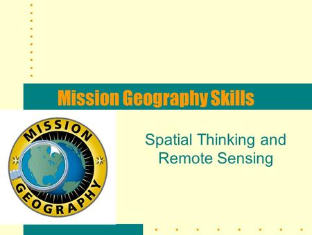 Mission Geography Skills