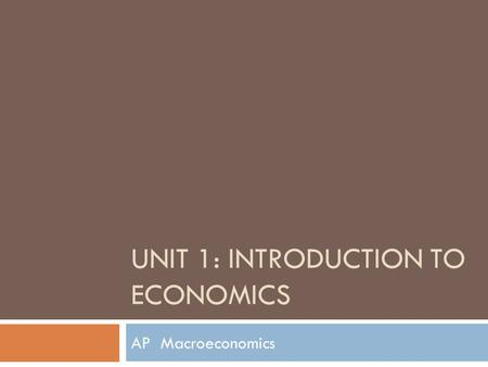 introduction to economic thinking This unit introduces you to the fundamental economic concepts of scarcity, opportunity cost, and the market model you will learn the distinction between comparative advantage and absolute advantage based on opportunity cost, and how comparative advantage creates the potential to gain from trade in your exploration of the market model, you will lead how the tools of supply and demand are used.