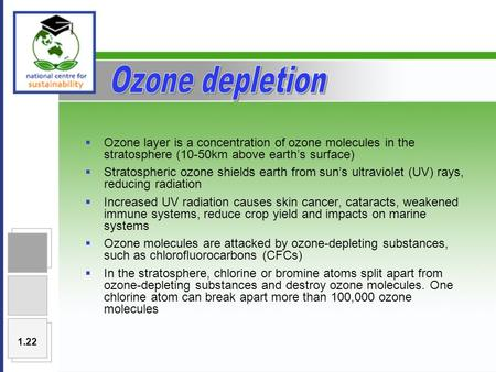 an introduction to the issues with the ozone layer Ozone depletion describes two related events observed since the late 1970s : a  steady  public misconceptions and misunderstandings of complex issues like  the ozone depletion are common the limited scientific knowledge of the public  led.