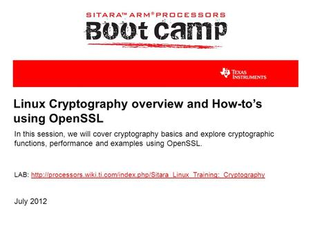 Linux Cryptography overview and How-to's using OpenSSL