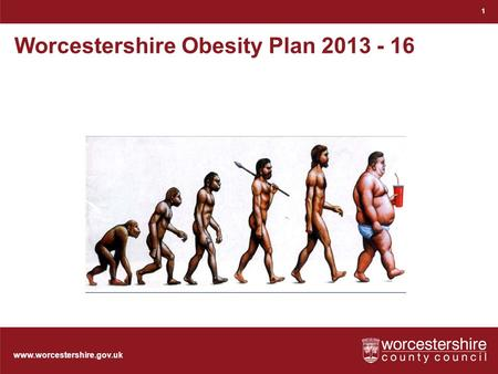 Www.worcestershire.gov.uk Worcestershire Obesity Plan 2013 - 16 1.
