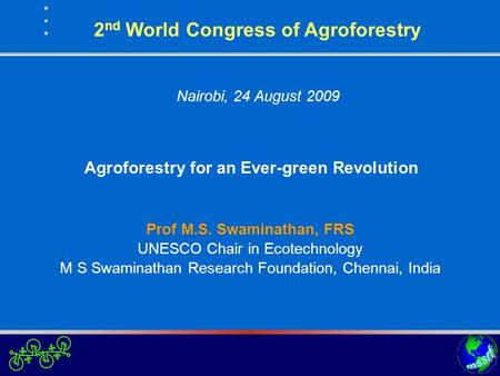 2nd World Congress of Agroforestry