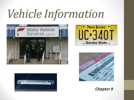 Vehicle Information Chapter 9.