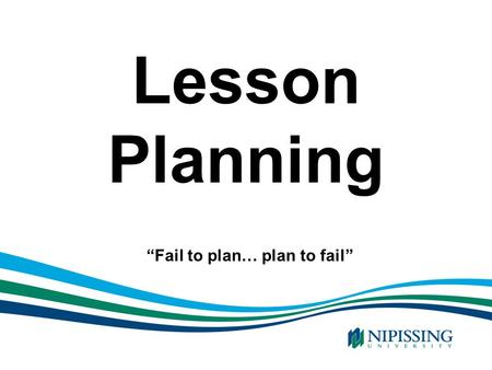 """Fail to plan… plan to fail"""