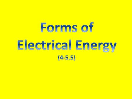 Electricity is a form of energy that can cause change and be changed into other forms of energy.