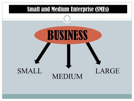 Small and Medium Enterprise (SMEs)