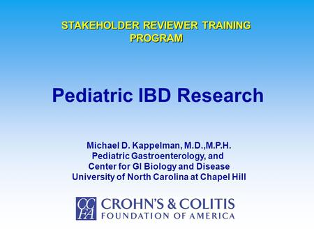 Pediatric IBD Research