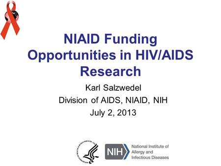 NIAID Funding Opportunities in HIV/AIDS Research