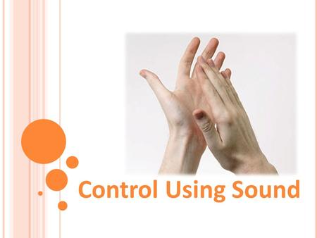 Control Using Sound. 1. What is sound? 2. How does the LEGO sound sensor sense sound? 2 Control Using Sound Pre-Quiz.