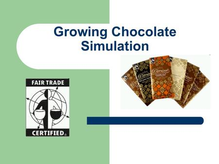 Growing Chocolate Simulation. Simulation:Growing Cocoa Beans You are going to experience what happens to cocoa farmers when they are paid for their cocoa.