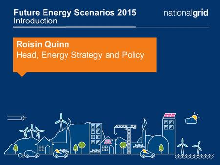 Future Energy Scenarios 2015 Introduction Roisin Quinn Head, Energy Strategy and Policy.