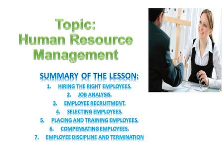 Topic: Human Resource Management