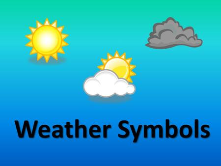 Weather Symbols. Which of these symbols do you think represents rain? * **** * * ****