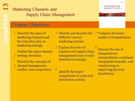 CHAPTER 13 Marketing Channels and Supply Chain Management