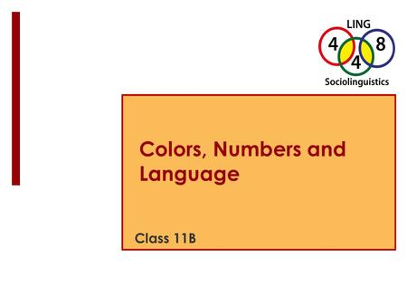 Colors, Numbers and Language Class 11B. Puzzle du Jour:  Can you  Name all the colors?  Count first row?  Count total crayons? Image from Flickr User.