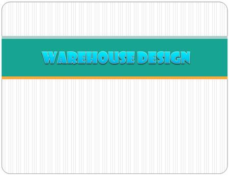The design of a large and modern warehouse is very complex and requires a range of skills and disciplines.  operations  construction  materials handling.