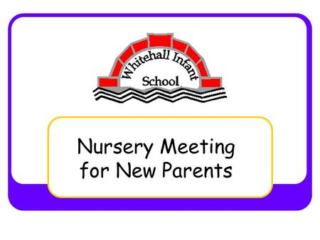 Nursery Meeting for New Parents. Nursery Staff Mrs McLucas Mrs Rout Mrs Fawssett Miss Lyford.
